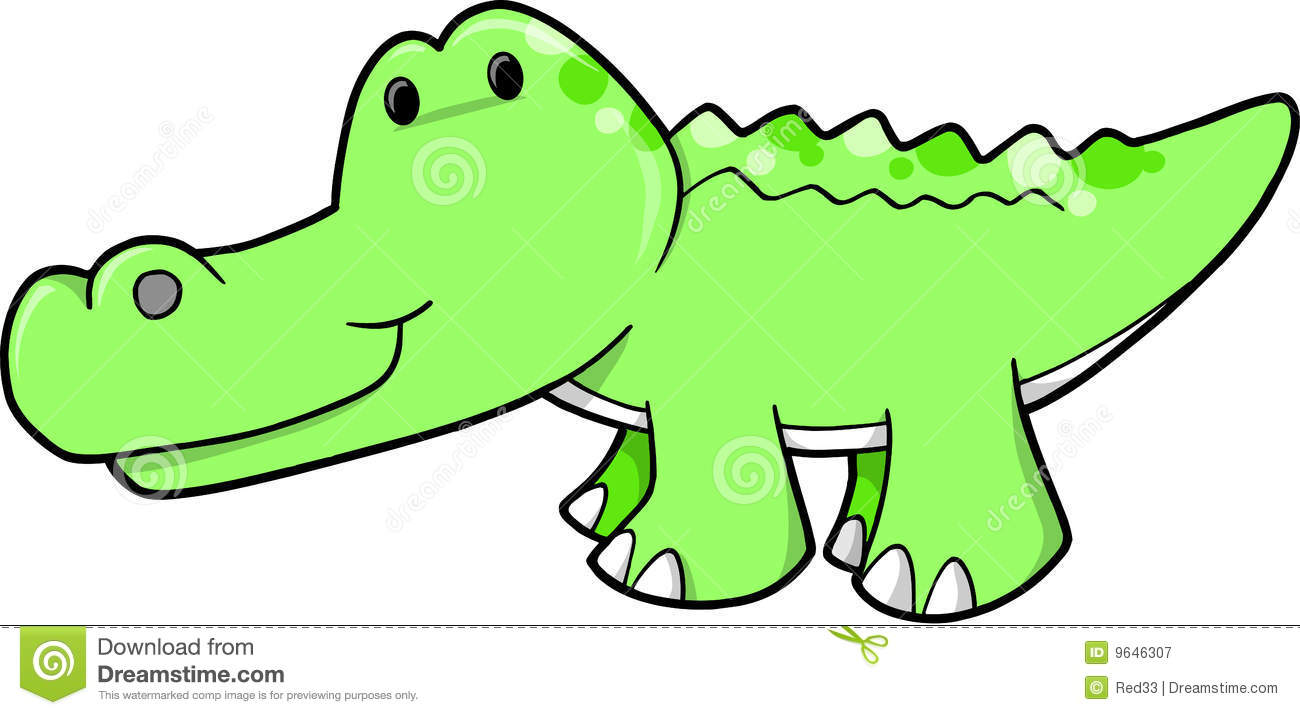 Cute Alligator Vector Illustration Royalty Free Stock ...
