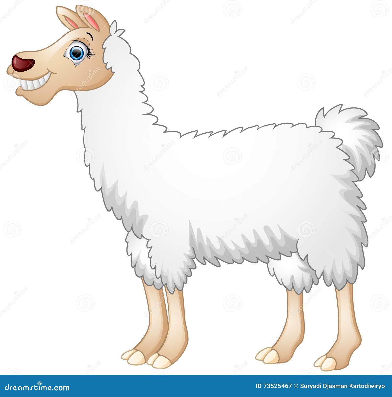 Cute Alpaca Cartoon Stock Vector - Image: 73525467