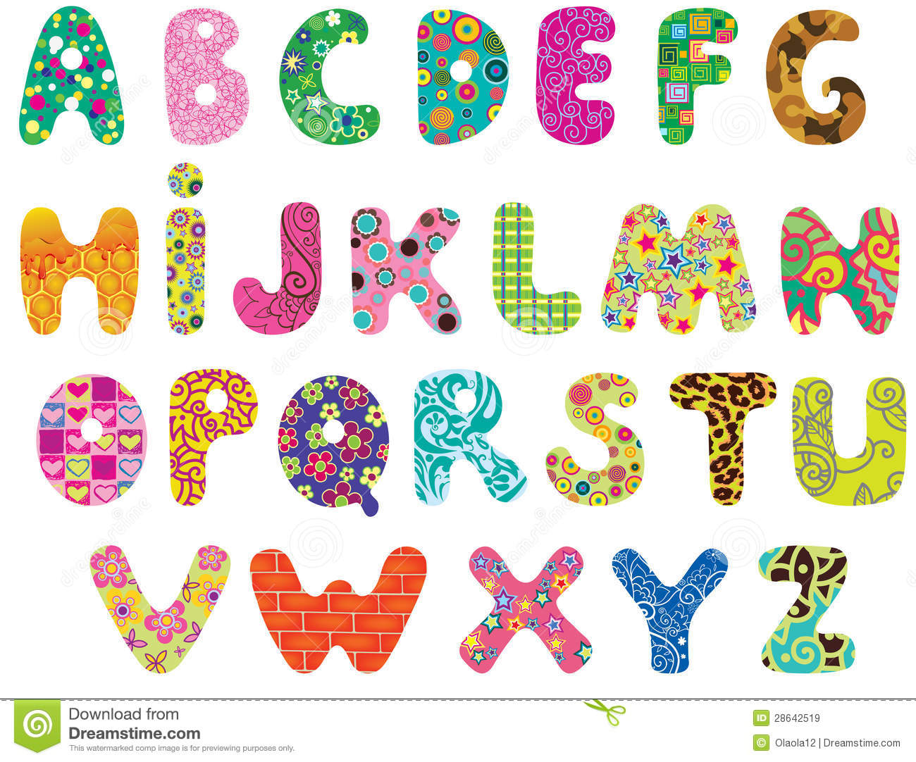 Cute Alphabet Stock Vector Illustration Of Capital Cute 28642519