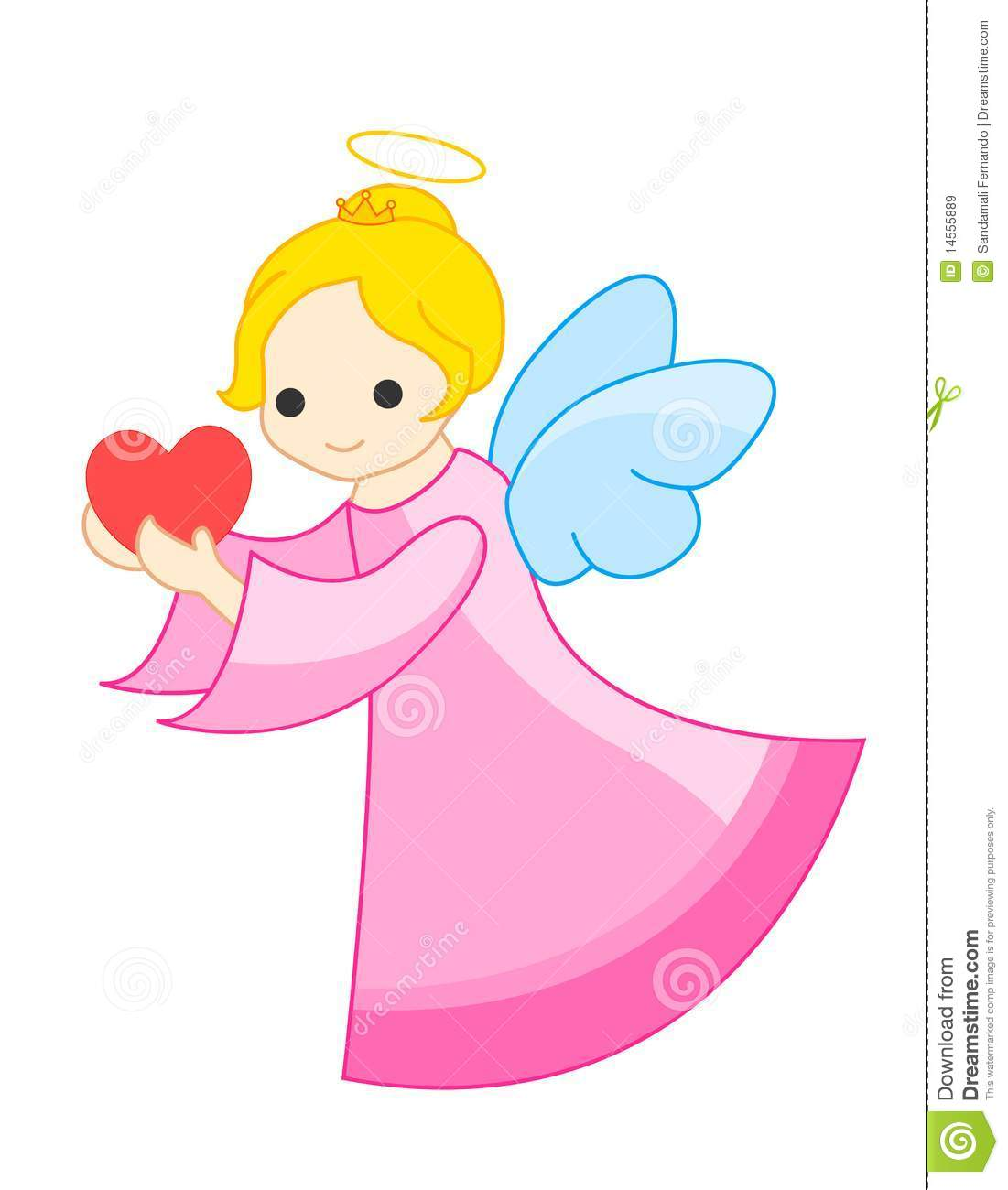 Cute angel stock vector image of care artwork magic for Angel clipart