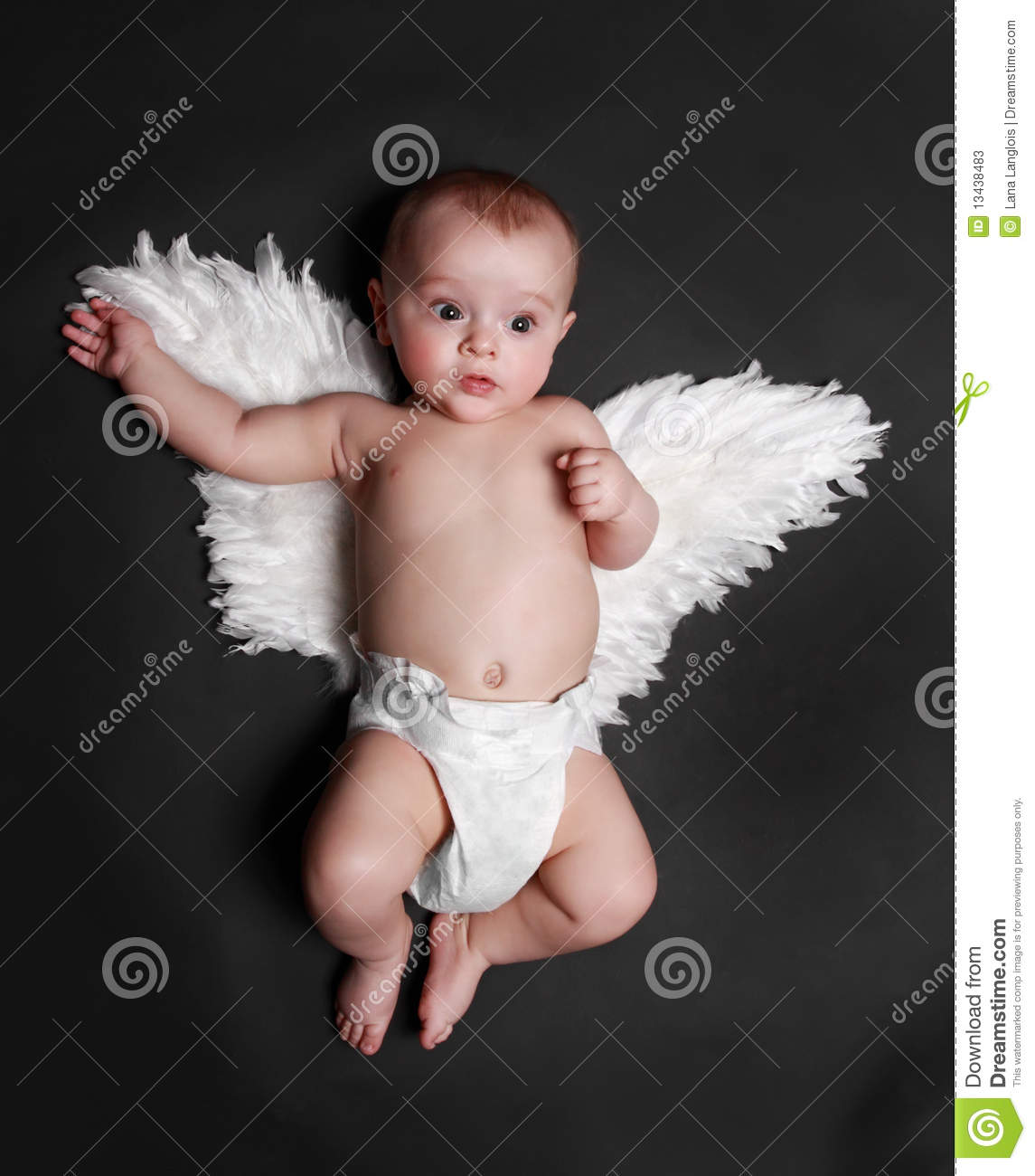 cute angel baby boy stock image. image of white, looking - 13438483