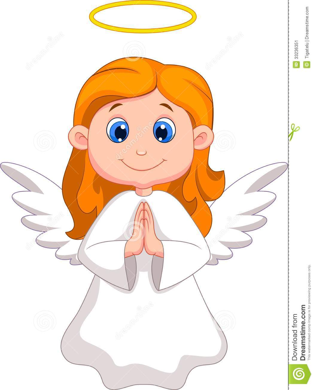 Cute Angel Cartoon Stock Image - Image: 33236351