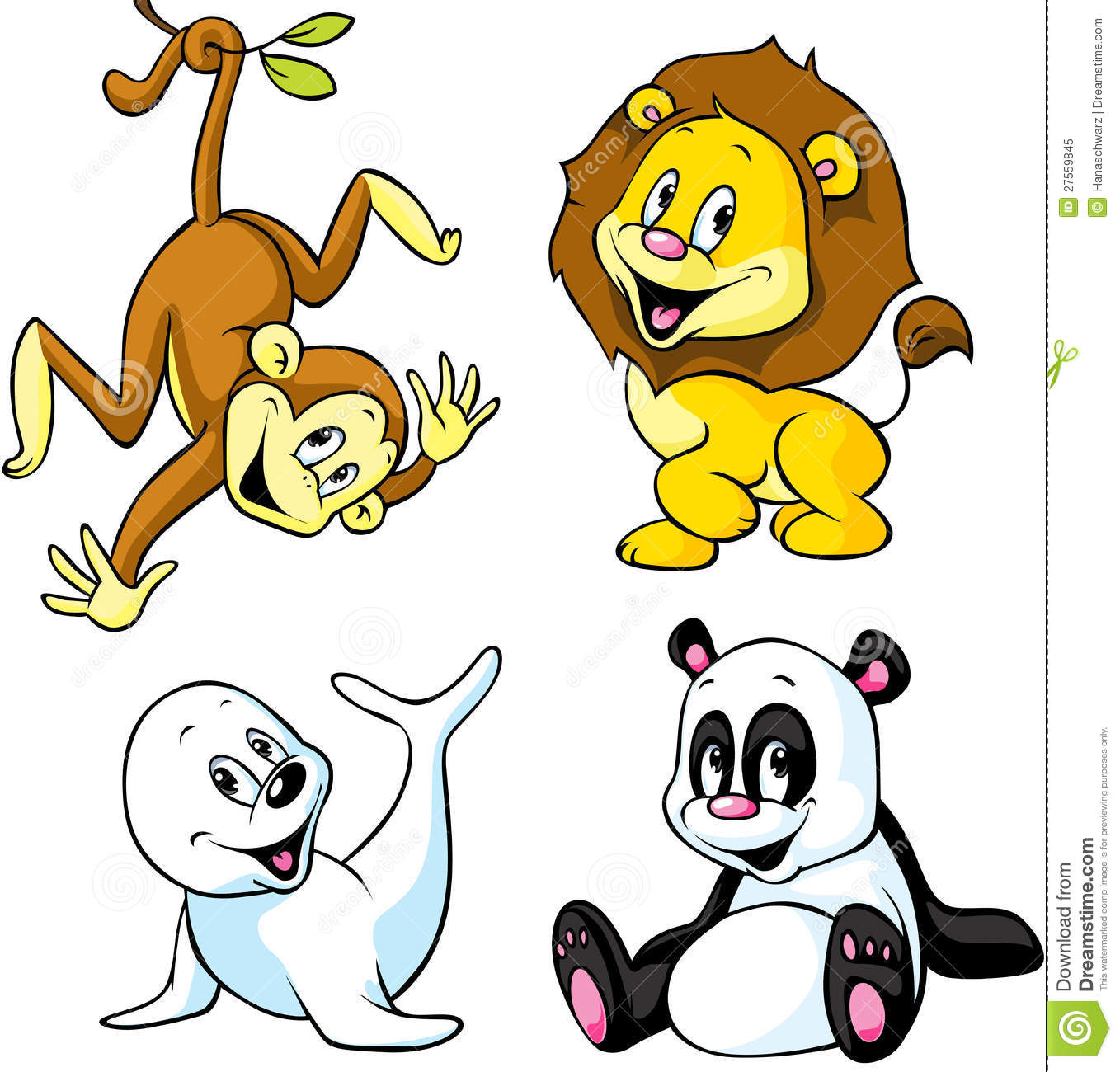 Cute Animal Cartoon Royalty Free Stock Photo - Image: 27559845
