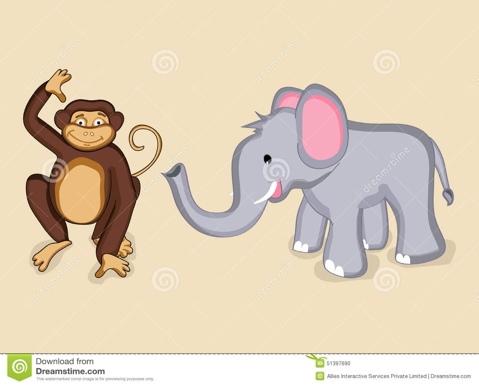 Cute Animal Characters. Stock Illustration. Illustration