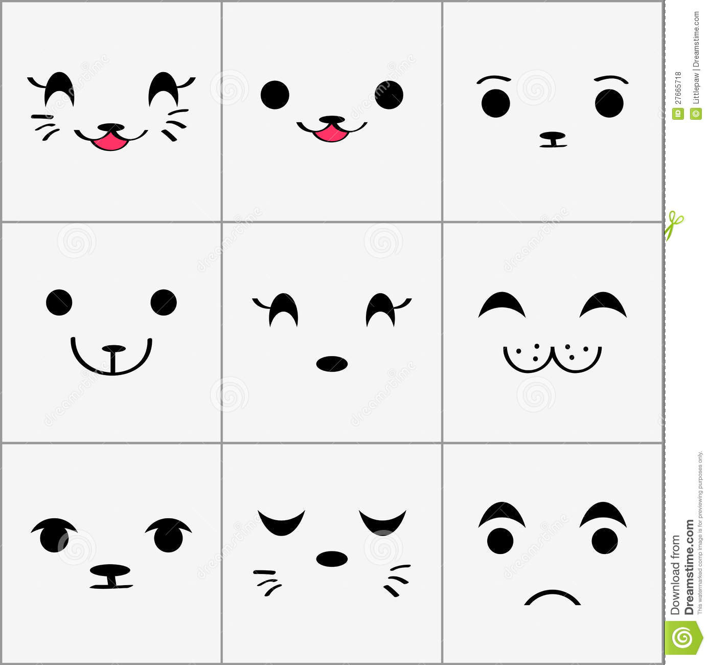 cute animal faces how to draw