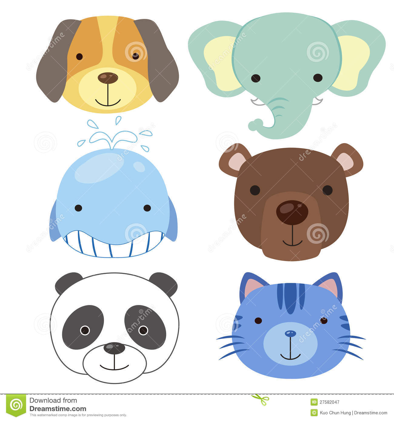 cute animal head icon02 royalty free stock photography Bamboo Clip Art Panda Drawing