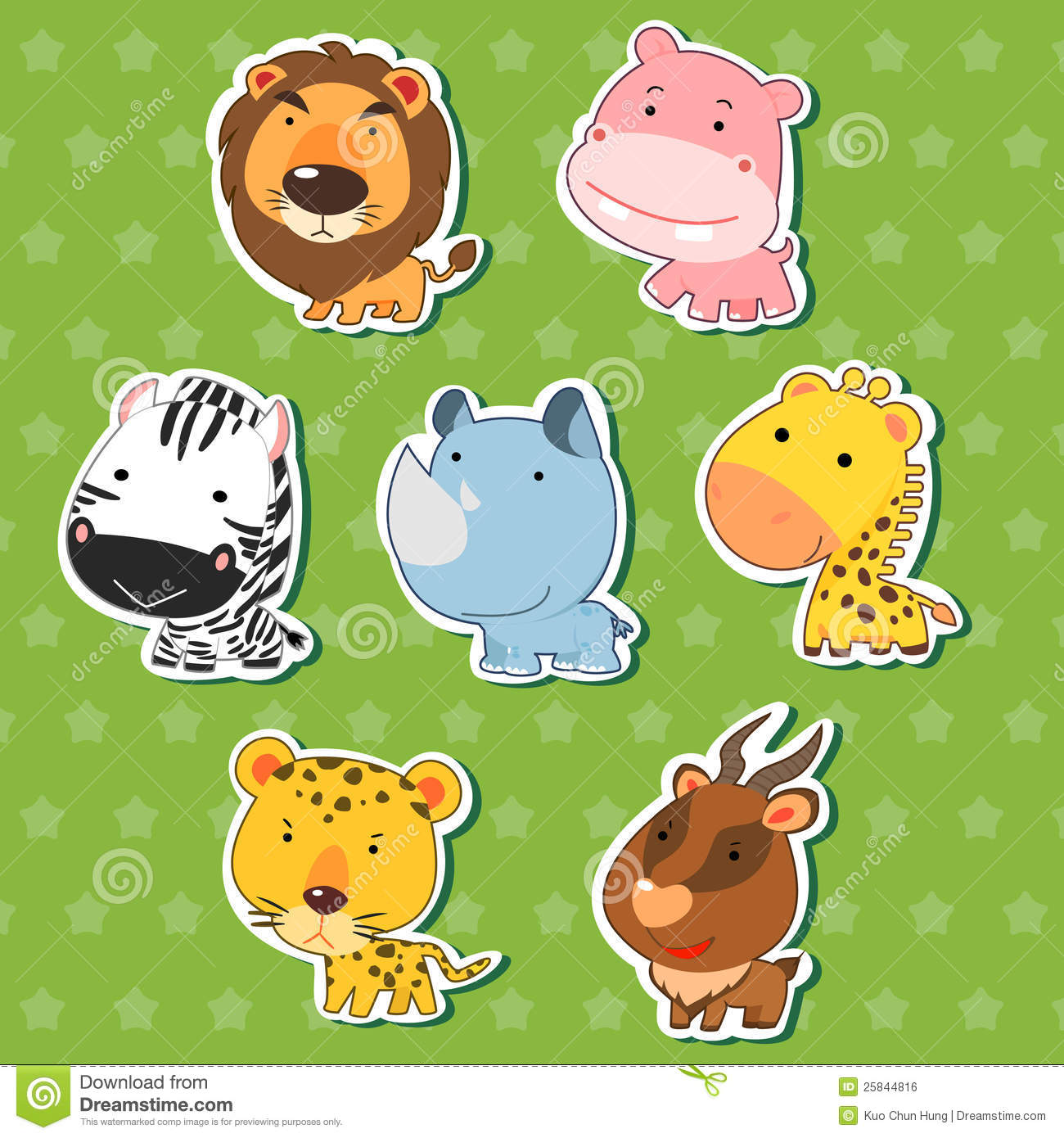 cartoon animal stickers in - photo #44