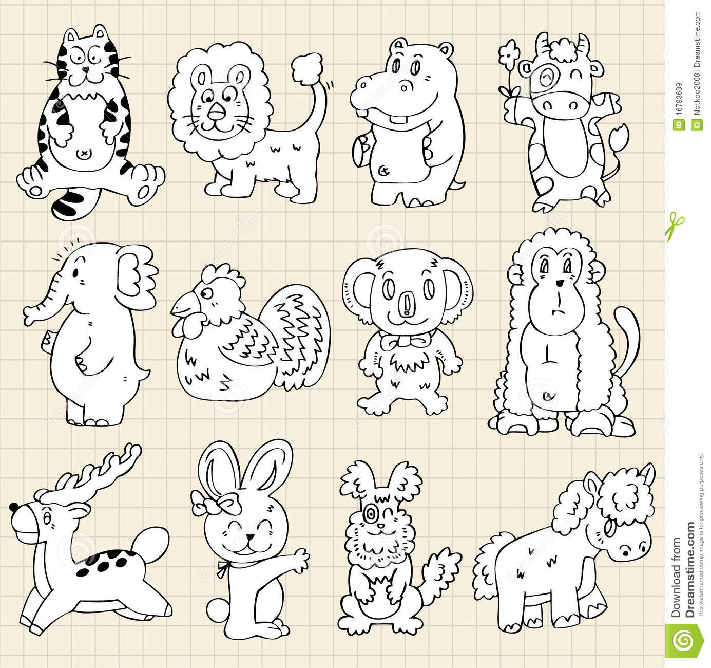 Royalty free stock images cute animals draw