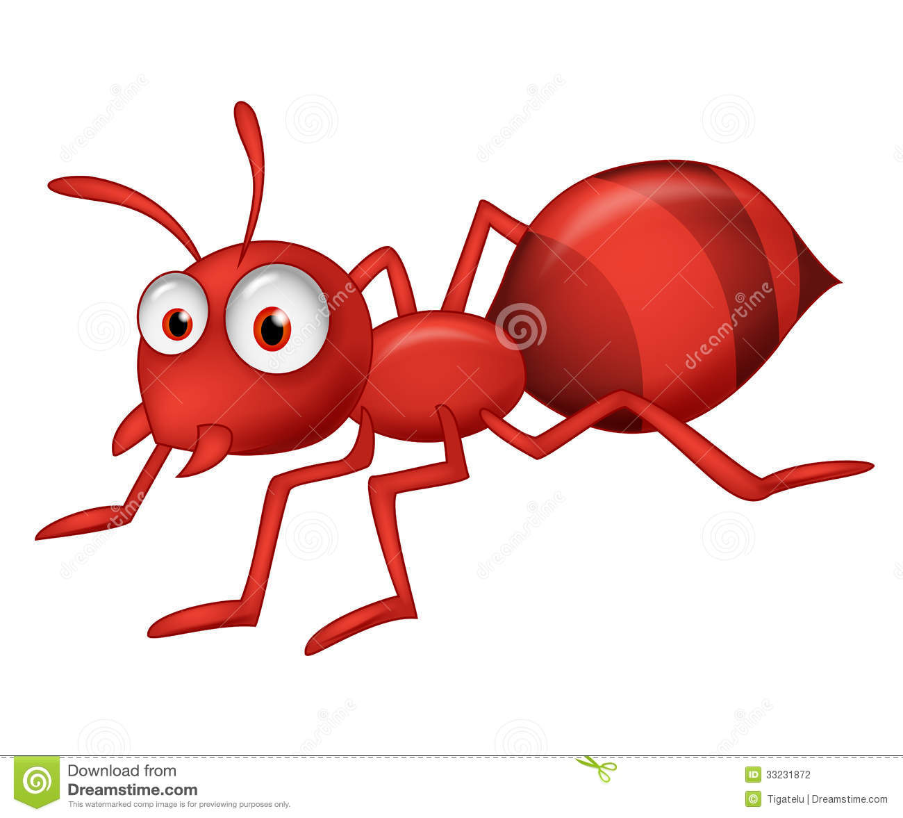 Red Ant Cartoon Stock Photos –...