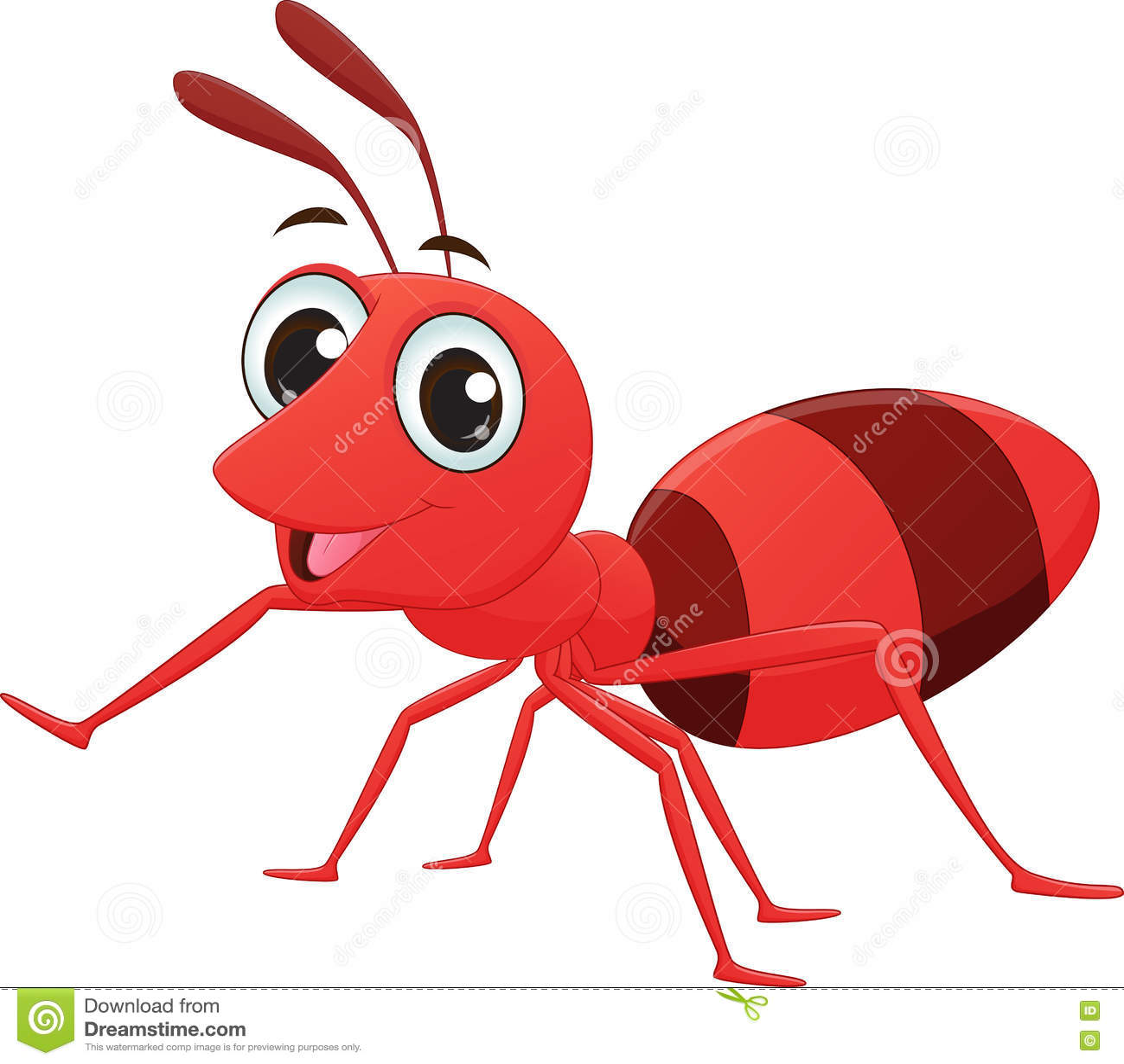 cute ant cartoon cartoon vector cartoondealer com 73013175 Baby Cow SVG Baby Cow Vector