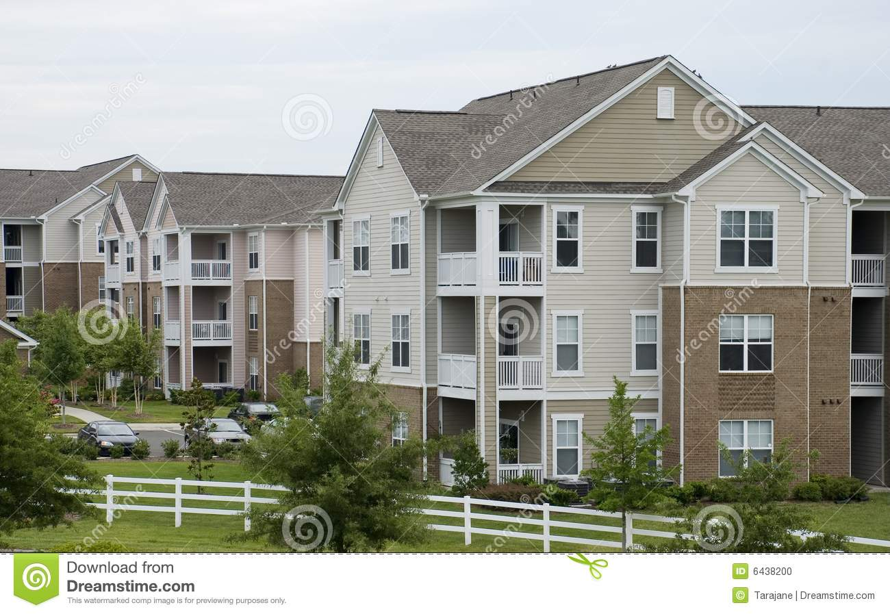 Cute Apartments Stock Photo Image 6438200