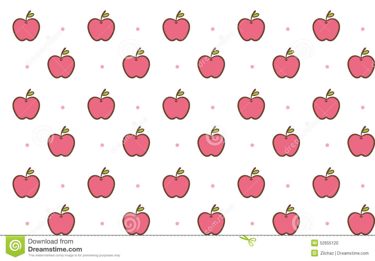 cute apple seamless background pattern illustration 52655120 - megapixl
