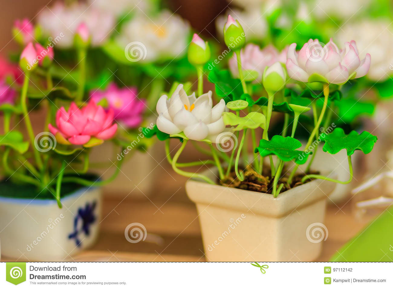 Cute Artificial Pink Lotus Flowers Or Water Lily Artificial Lot