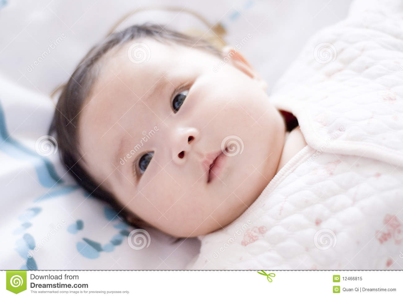 Cute asia baby with fat face