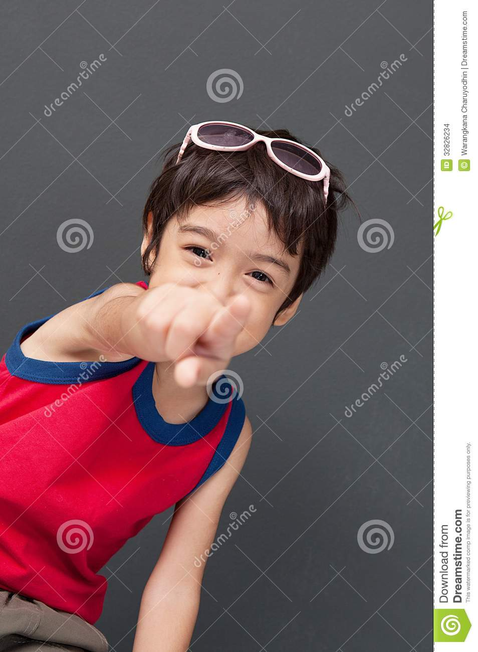 Cute Asian Boy Pointing Stock Images - Image: 32826234 Cute Baby Pointing Finger