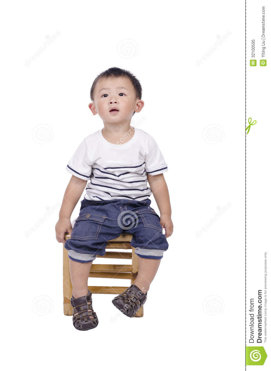 Cute Asian Boy Sitting On Chair Stock Image - Image of ... Cute Asian White Baby