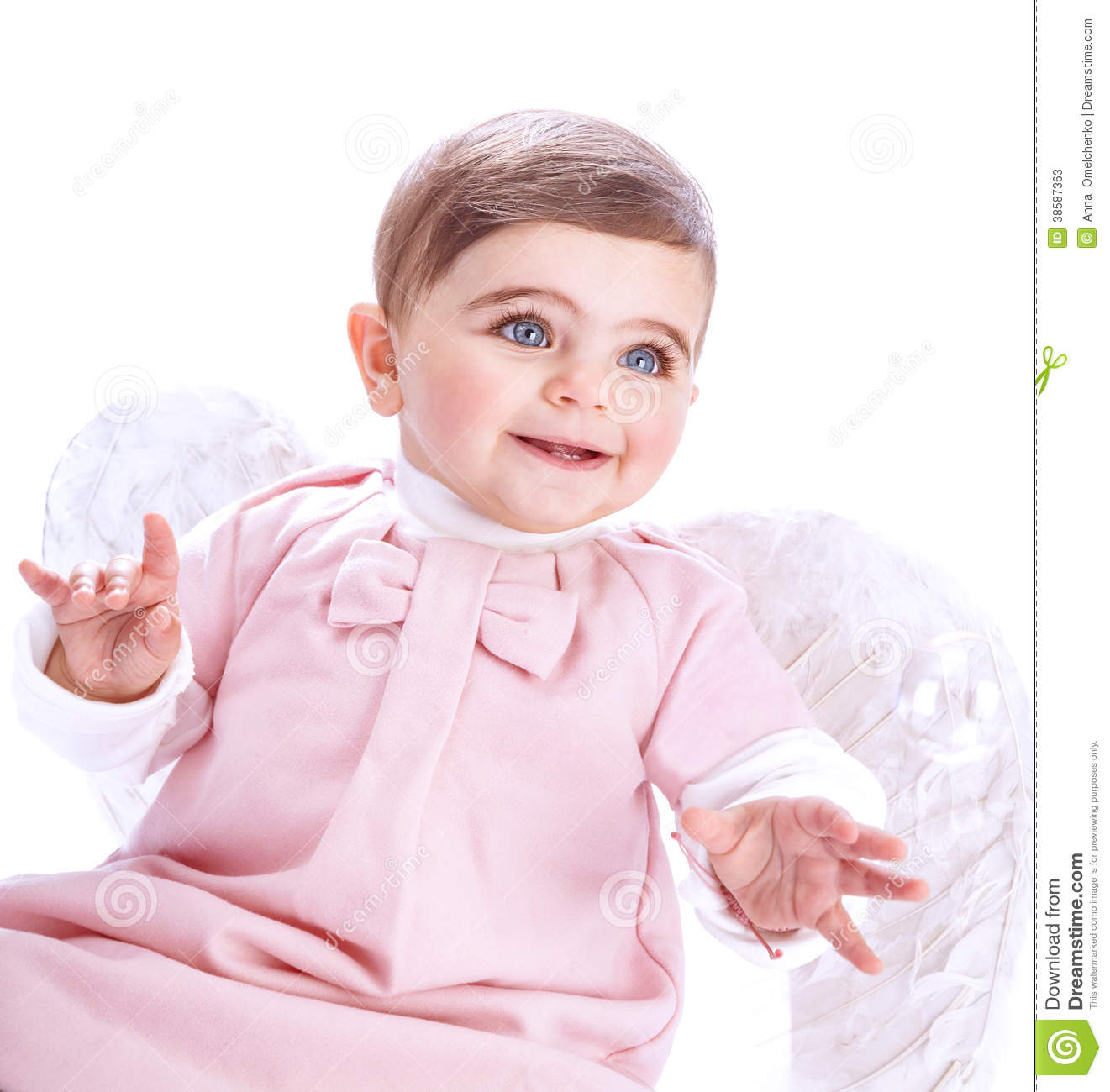 738085f63 Cute baby angel stock image. Image of background