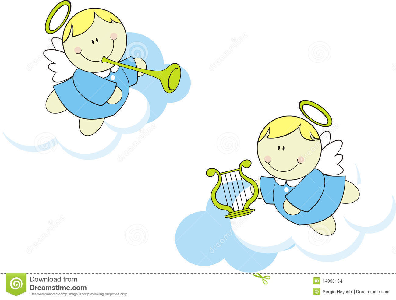 Cute baby angels stock images image 14838164