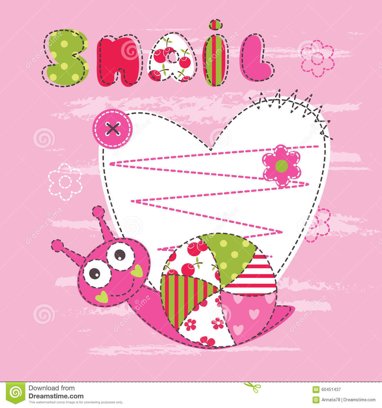 Snail Shower Design Ideas: Cute Baby Background With Snail Stock Vector