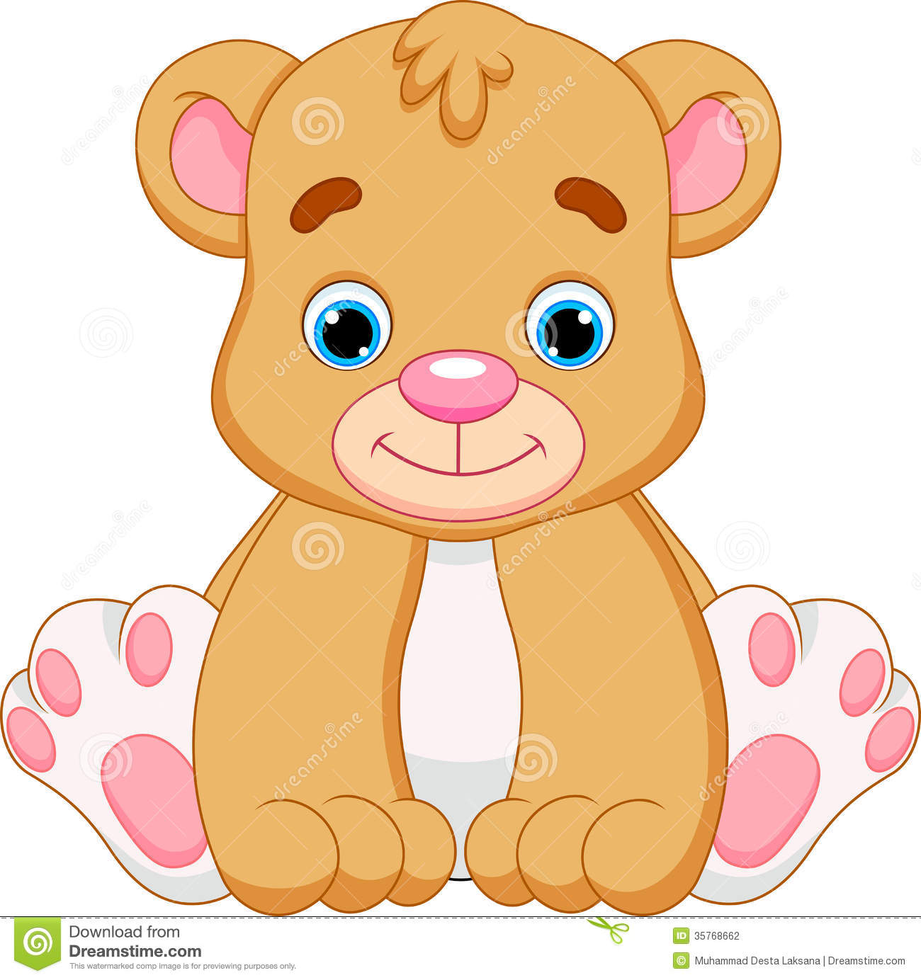 cute baby bear cartoon stock illustration illustration of rh dreamstime com Cute Cartoon Bear Cub images of cute cartoon teddy bears