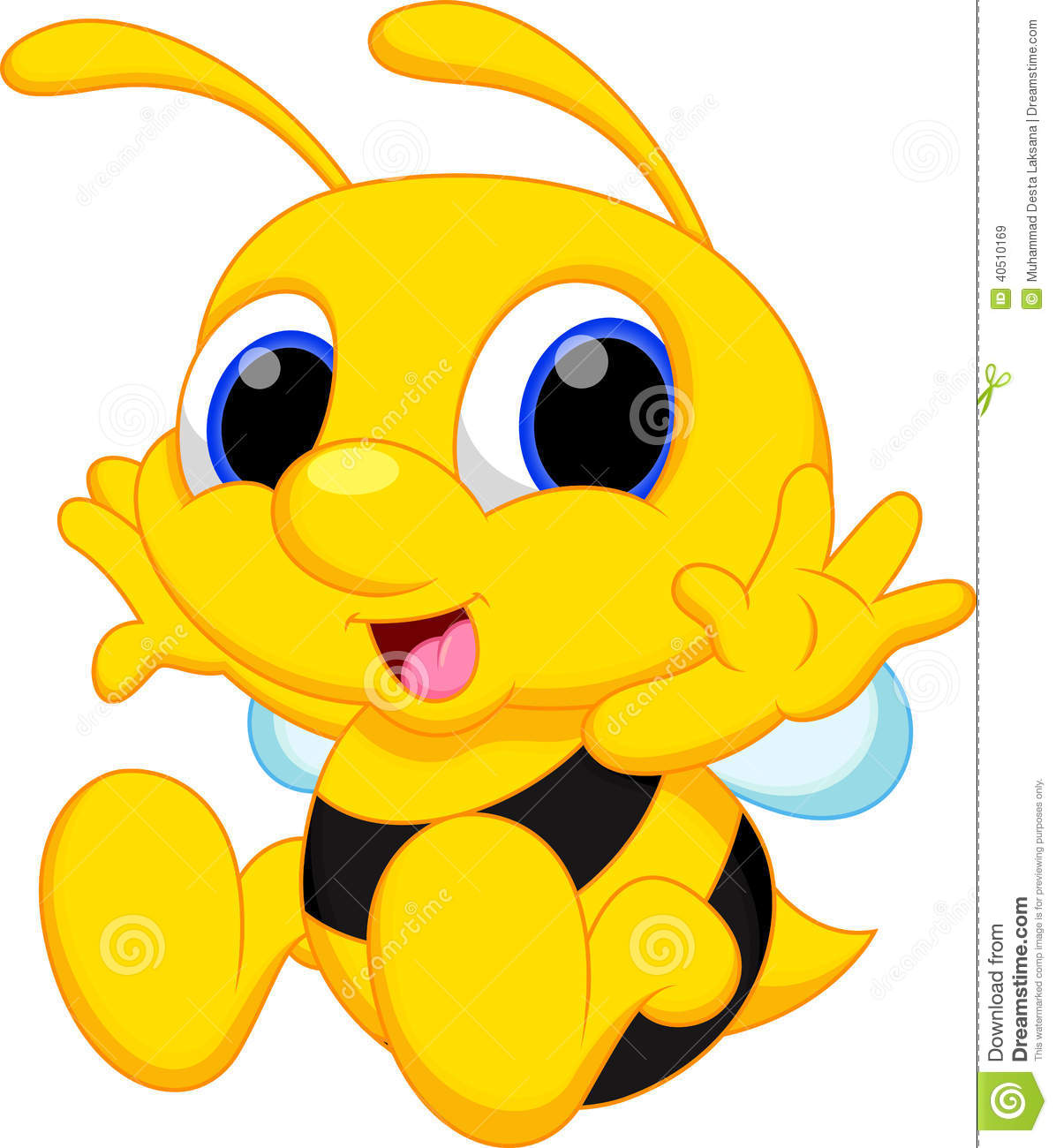 cute baby bee cartoon stock illustration. illustration of bumble