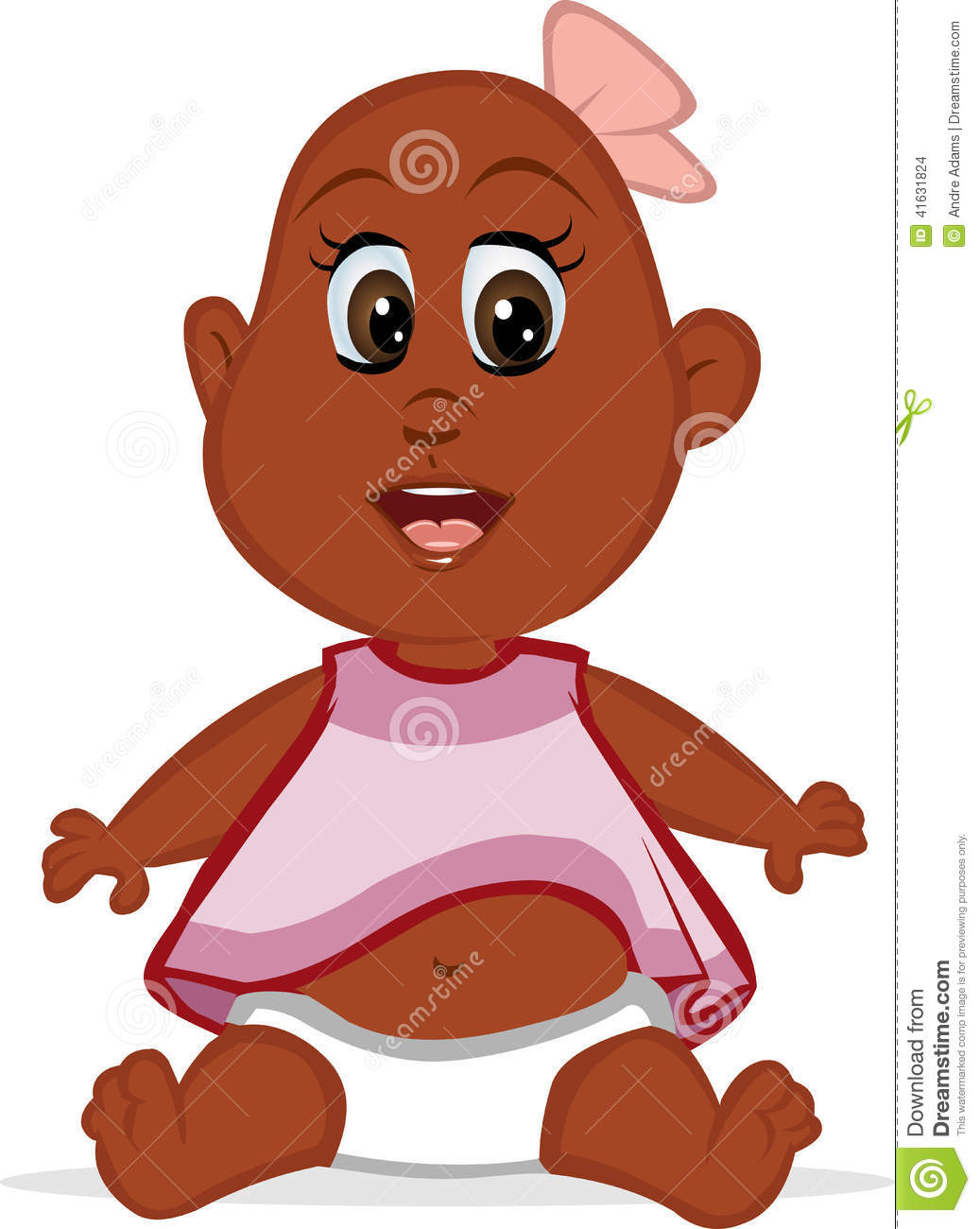 Pleasing Cute Baby Black Girl Stock Illustration Illustration Of Sitting Schematic Wiring Diagrams Amerangerunnerswayorg