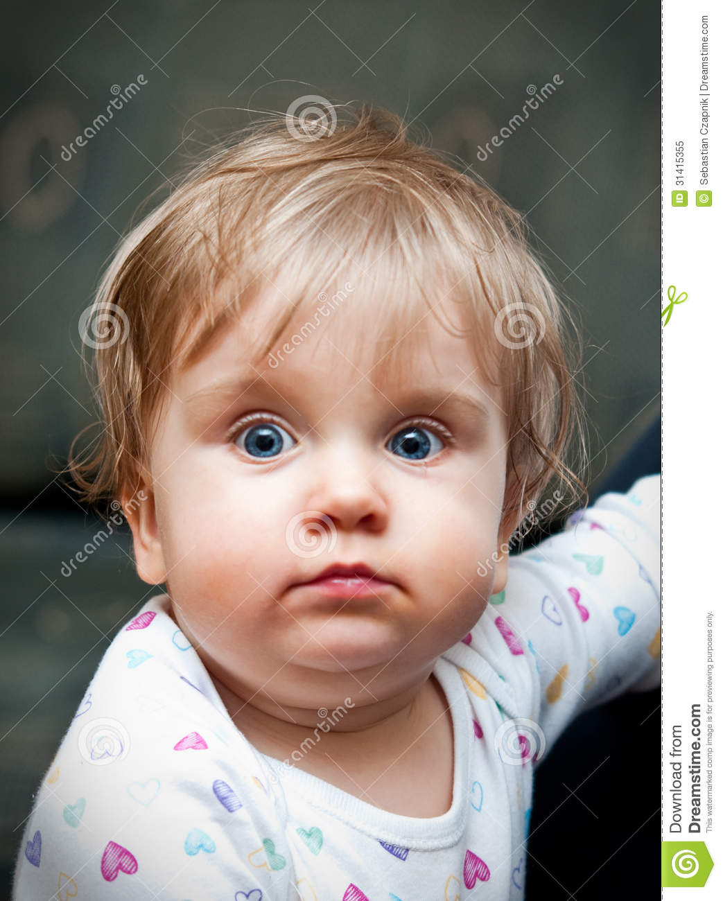 cute baby with blue eyes stock image. image of looks - 31415355