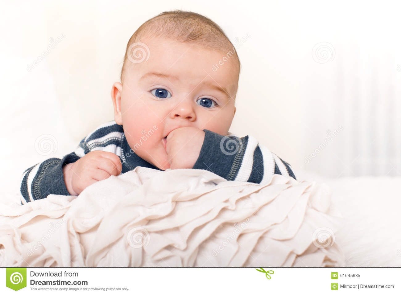 cute baby boy with big blue eyes stock photo image 61645685. Black Bedroom Furniture Sets. Home Design Ideas