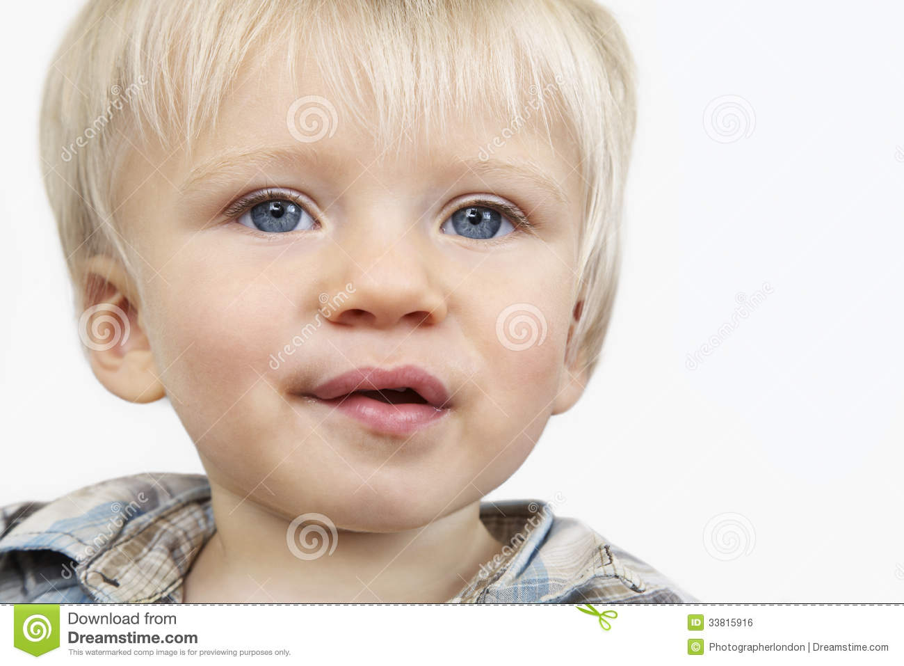 Cute Baby Boy With Blue Eyes Royalty Free Stock Image ...