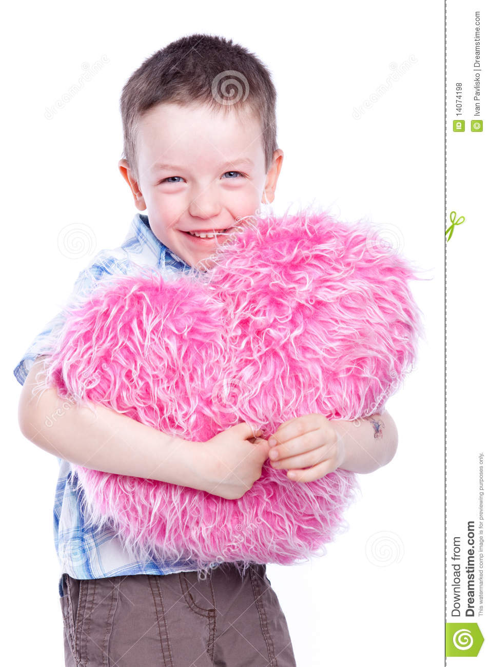 Cute Baby Boy Holding A Heart Stock Photo - Image of love ...