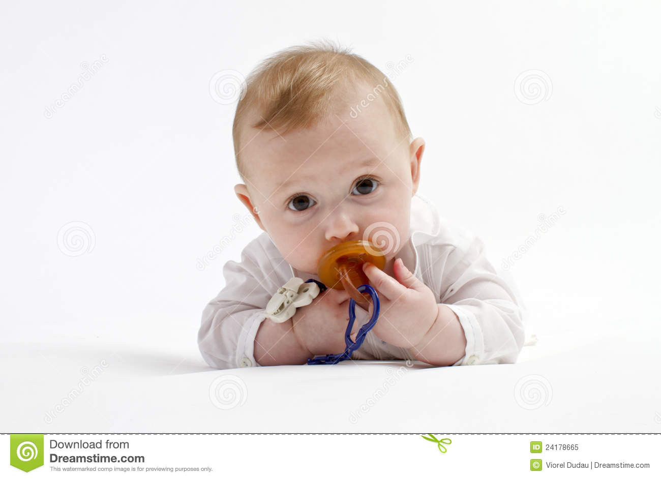 Cute baby boy with pacifier