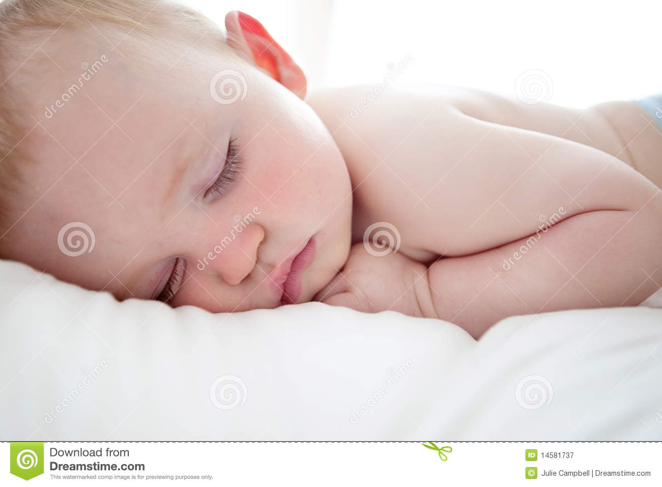 Cute Baby Boy Sleeping Royalty Free Stock Photography