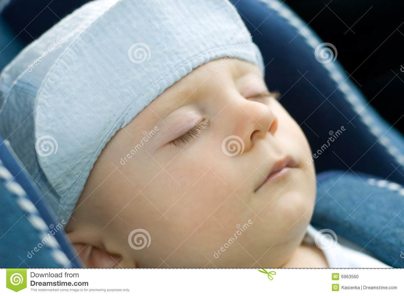 cute baby boy sleeping in car stock photo - image of person, quiet