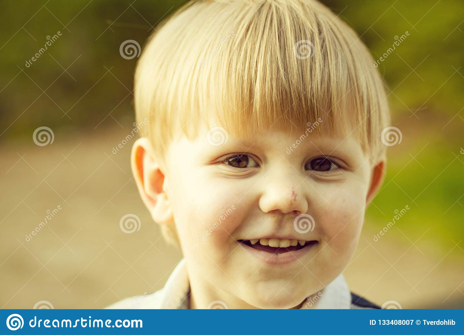 Cute Baby Boy Smiling Stock Image Image Of Human Natural 133408007