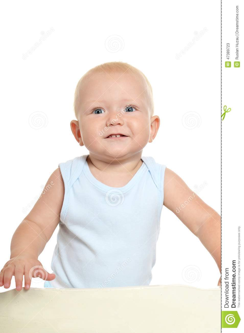 Cute baby boy stock photo image 47389723 for Cute toddler chairs