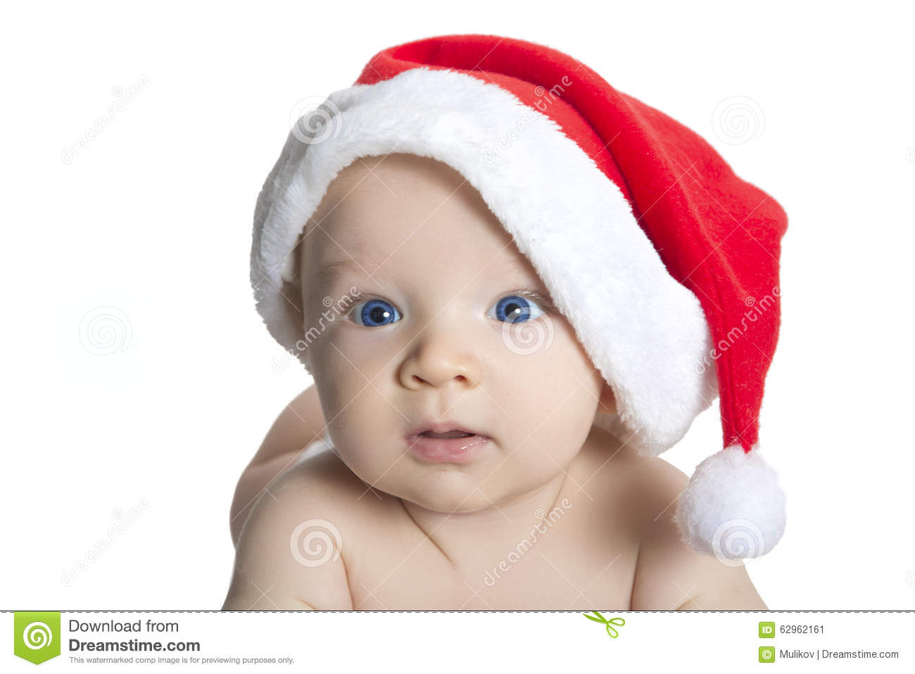 e1555ebea75 Cute Baby Boy Wearing Christmas Cap Stock Image - Image of celebrate ...