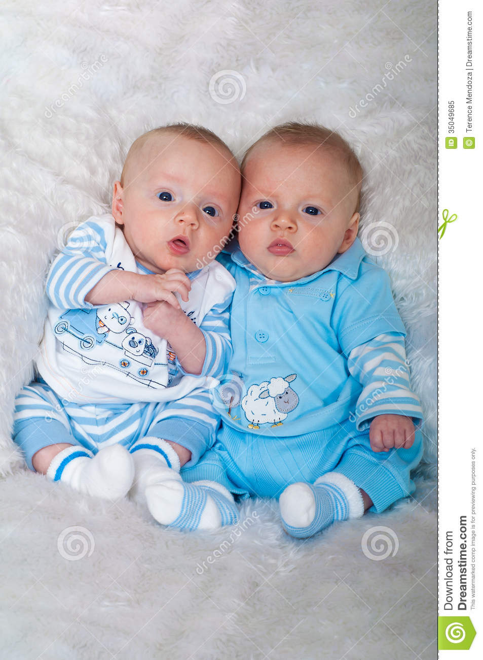 Cute Baby Boys Laying On Blanket Stock Image - Image of infant ...