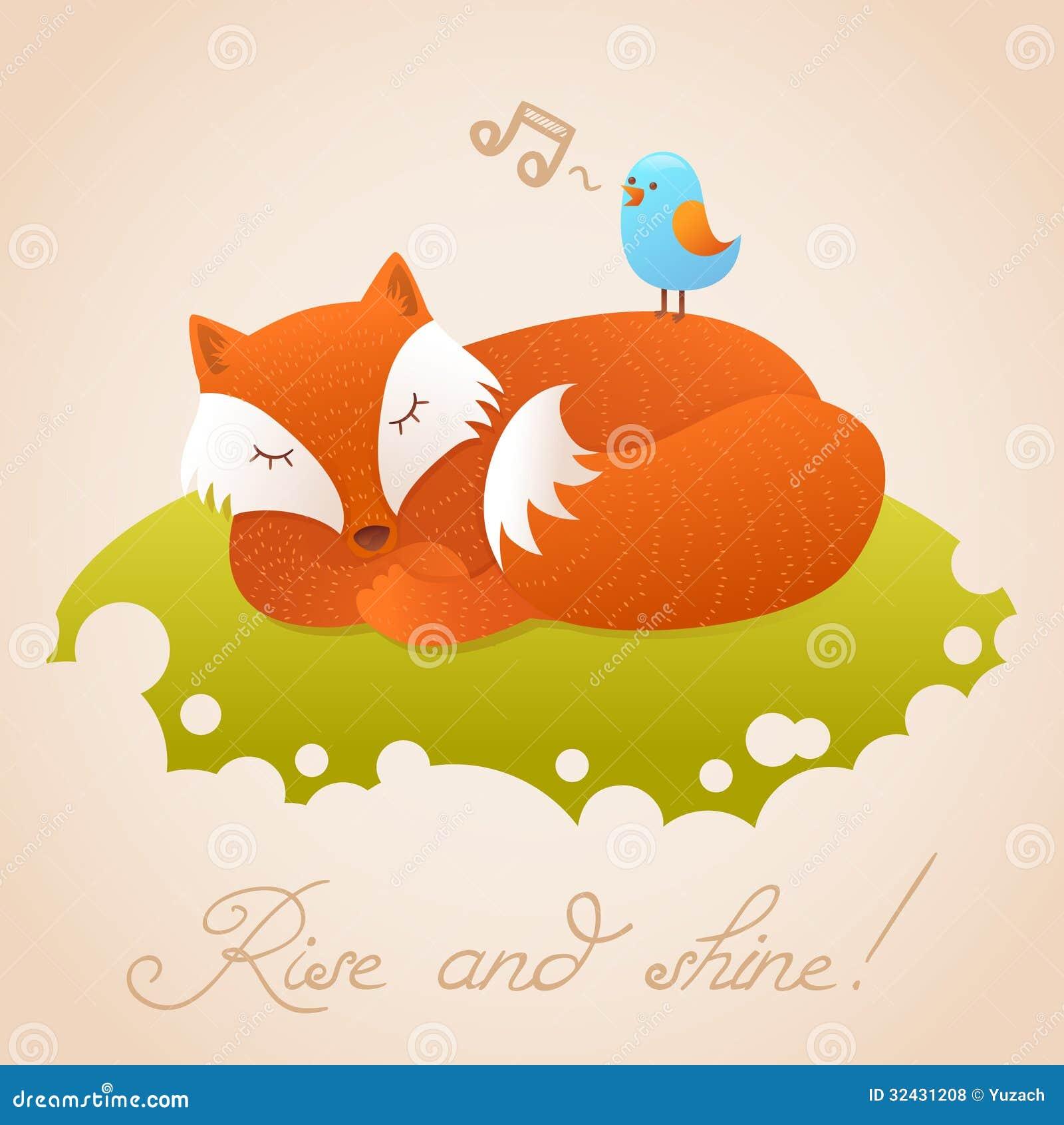 Cartoon Baby Fox Stock Vector - Image: 49081892  |Vector Cute Baby Fox