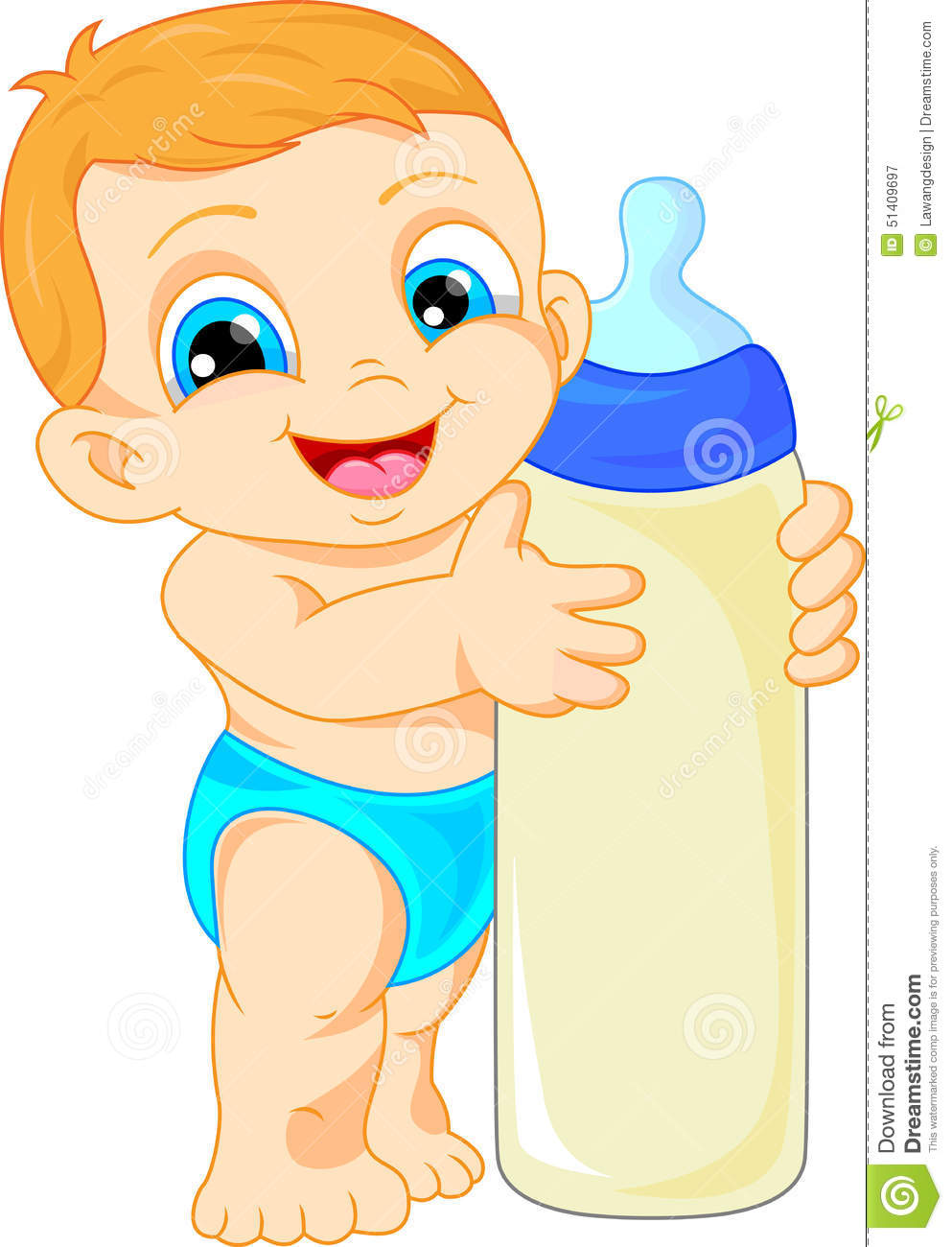 Cute baby cartoon stock vector. Illustration of young ...