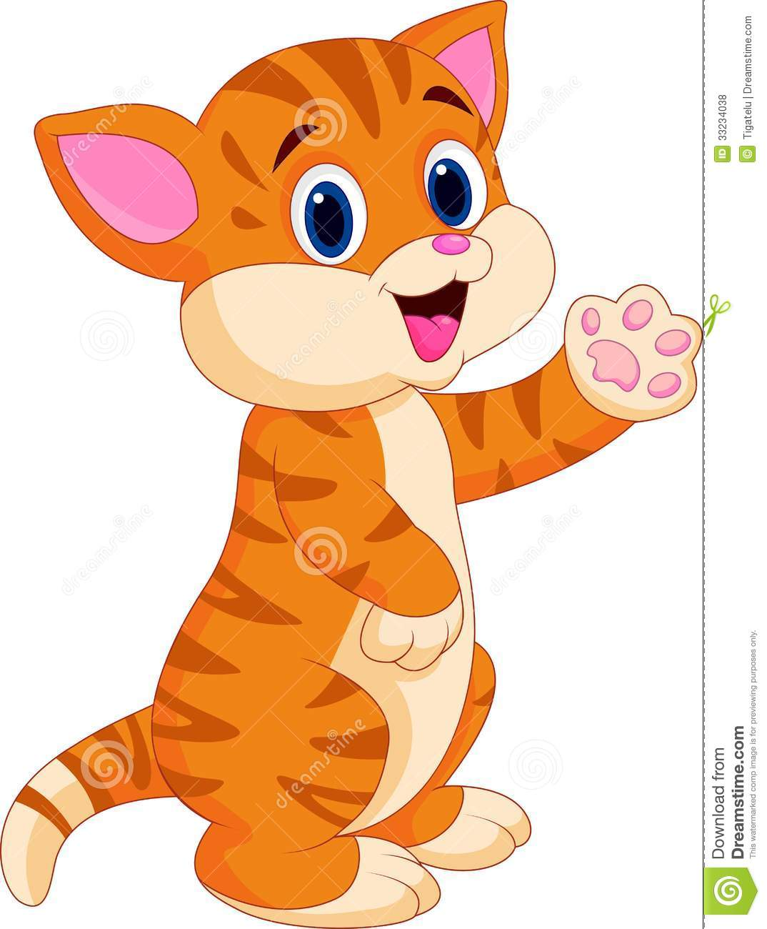 Cute Baby Cat Cartoon Royalty Free Stock s Image
