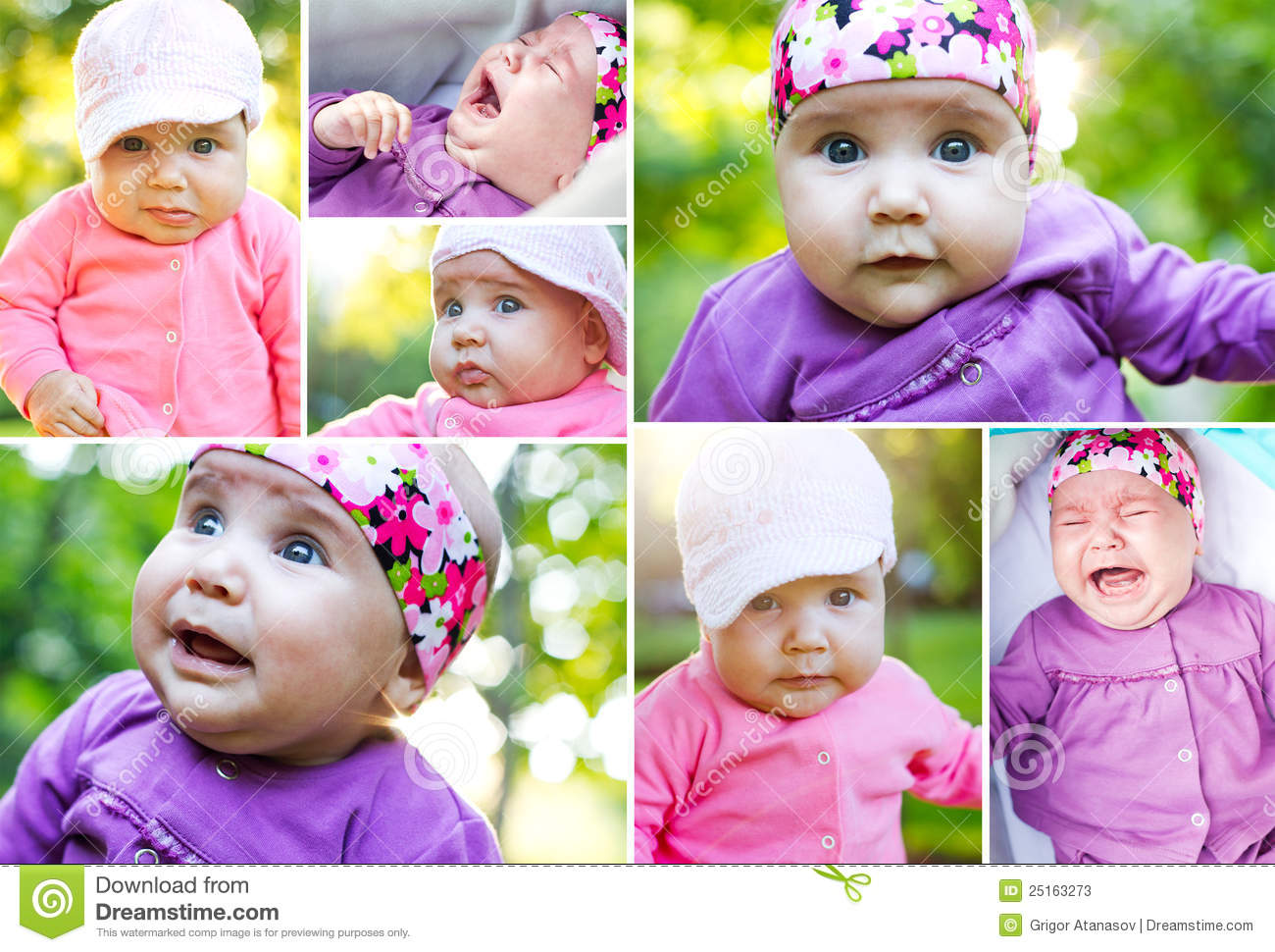 Cute Baby Collage Stock Photos, Images, & Pictures - 866 Images