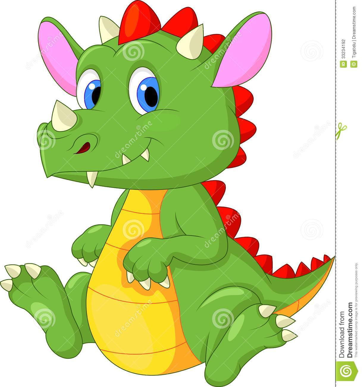 Cute baby dragon cartoon stock vector. Illustration of ...