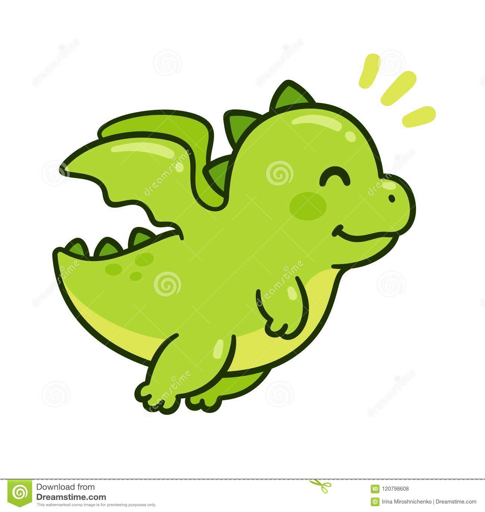 cute baby dragon stock vector illustration of adorable 120798608