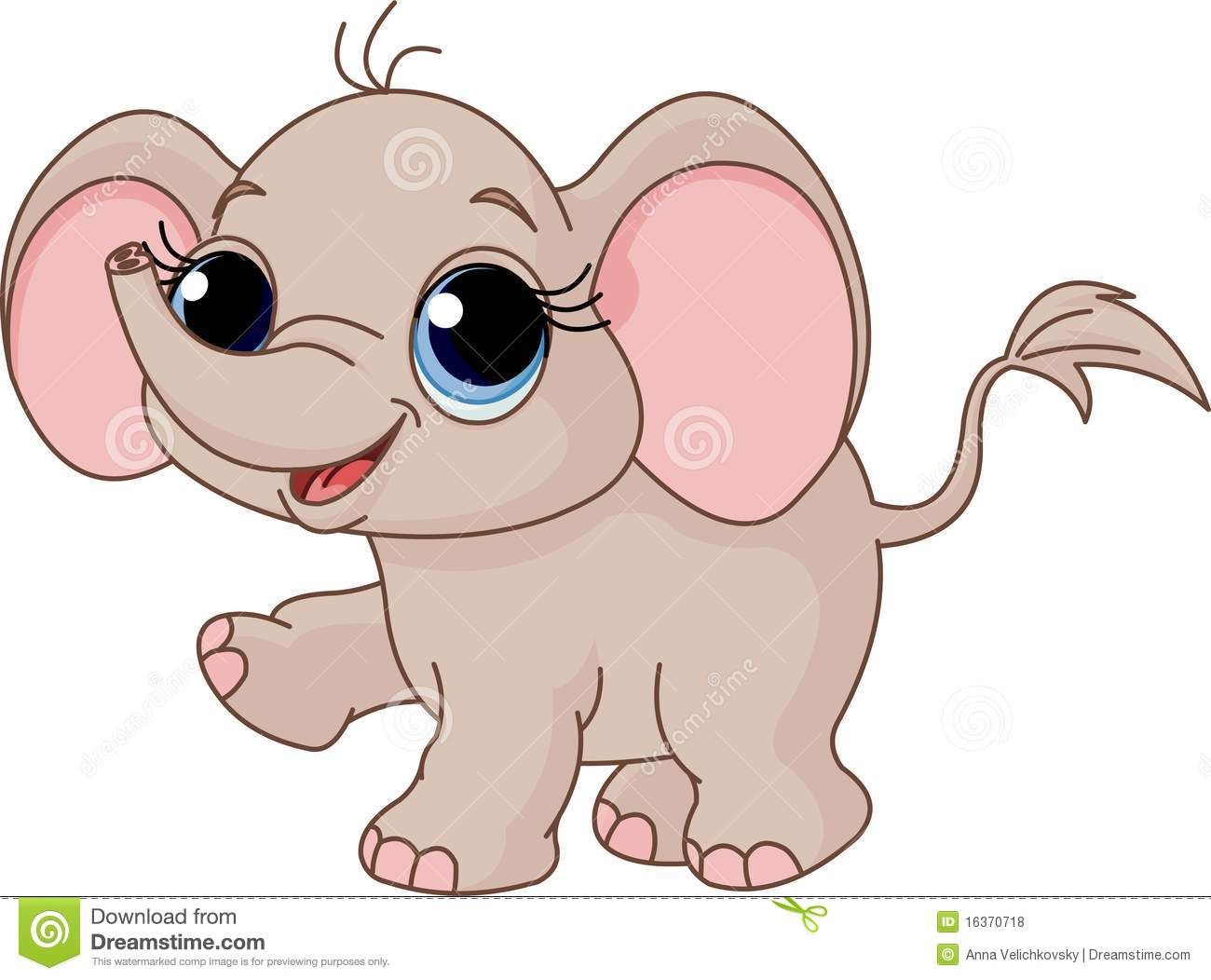 cute baby elephant stock vector illustration of animal 16370718