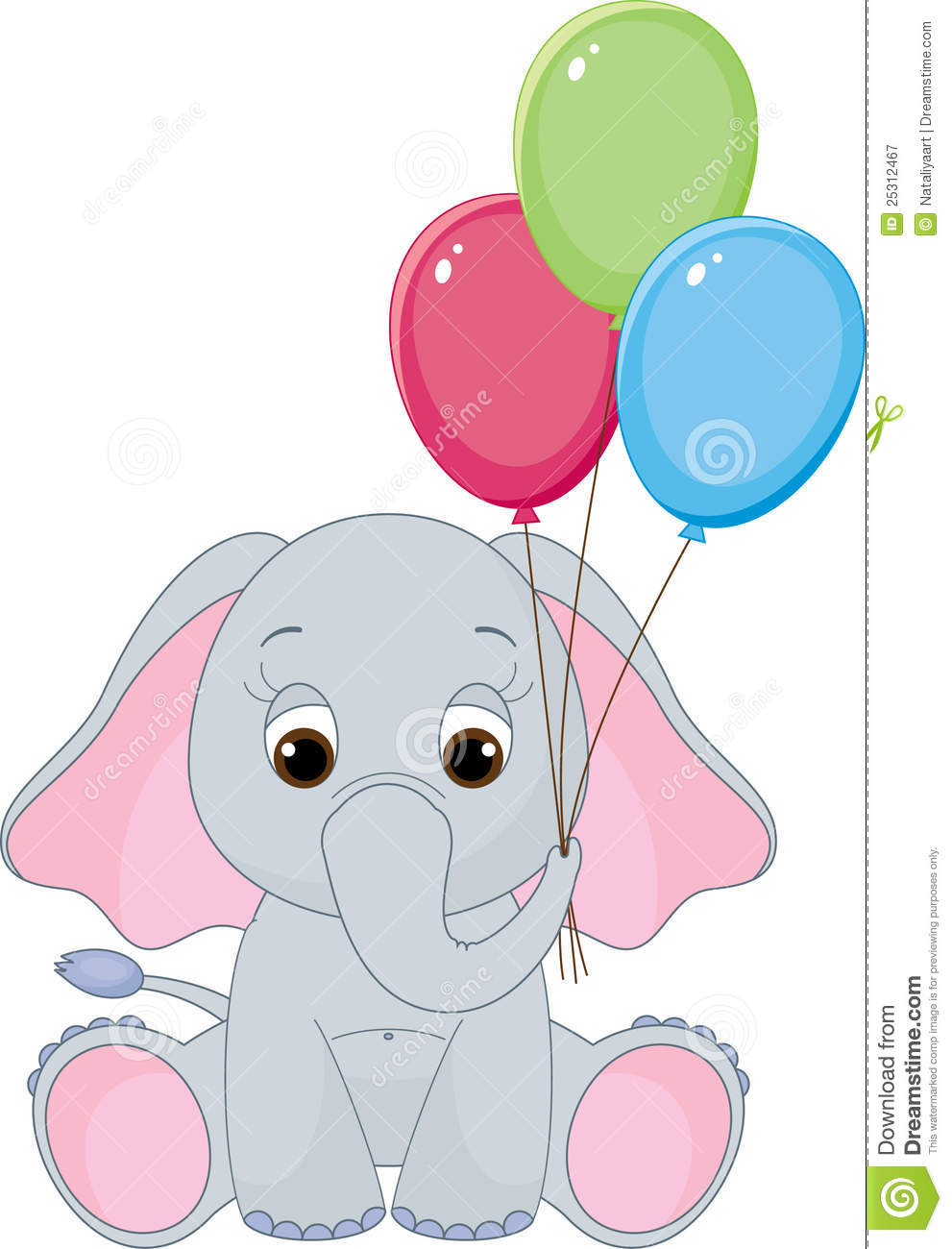 Cute Baby Elephant Stock Vector Image Of Colorful