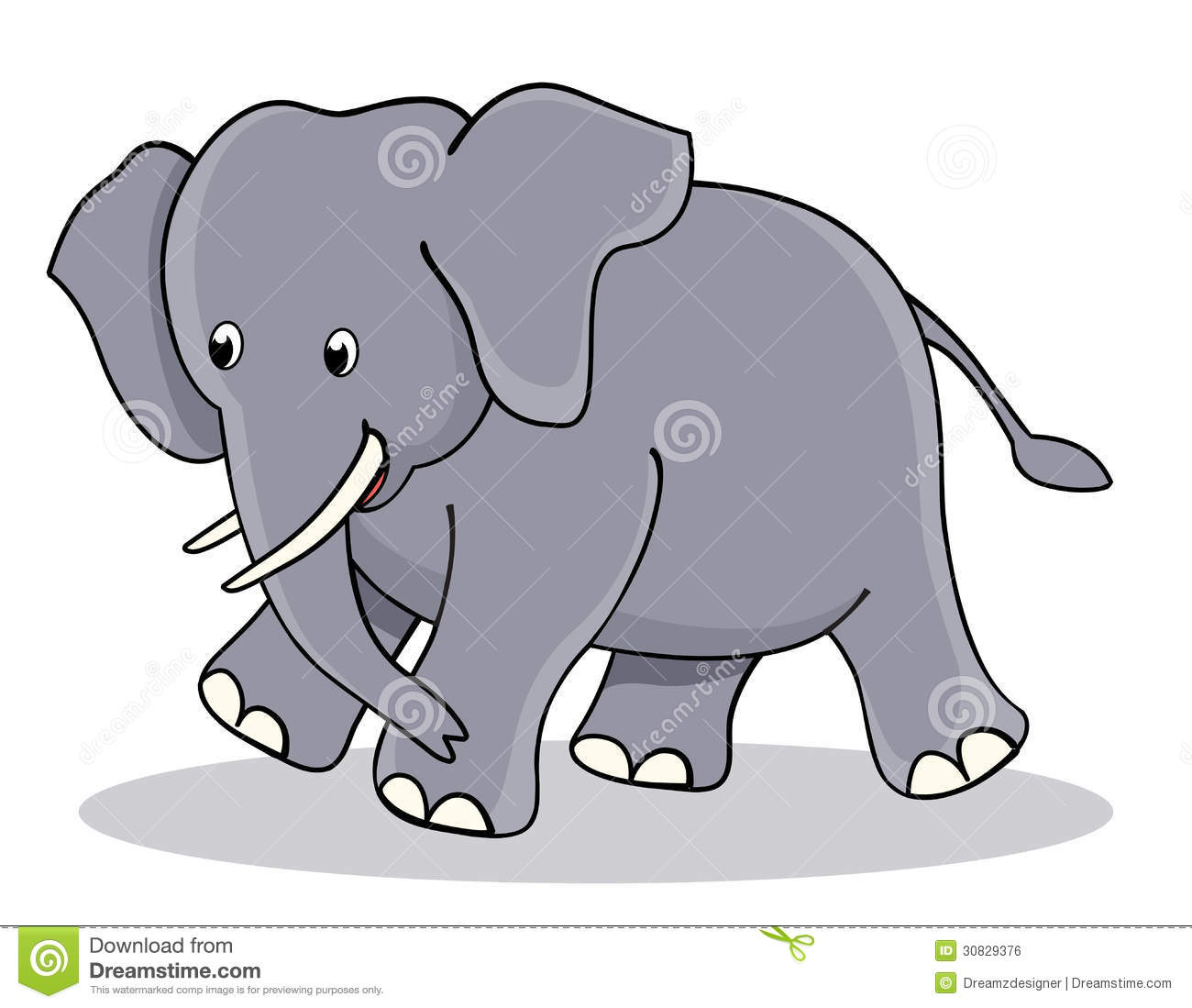Cute Baby Elephant Royalty Free Stock Image - Image: 30829376