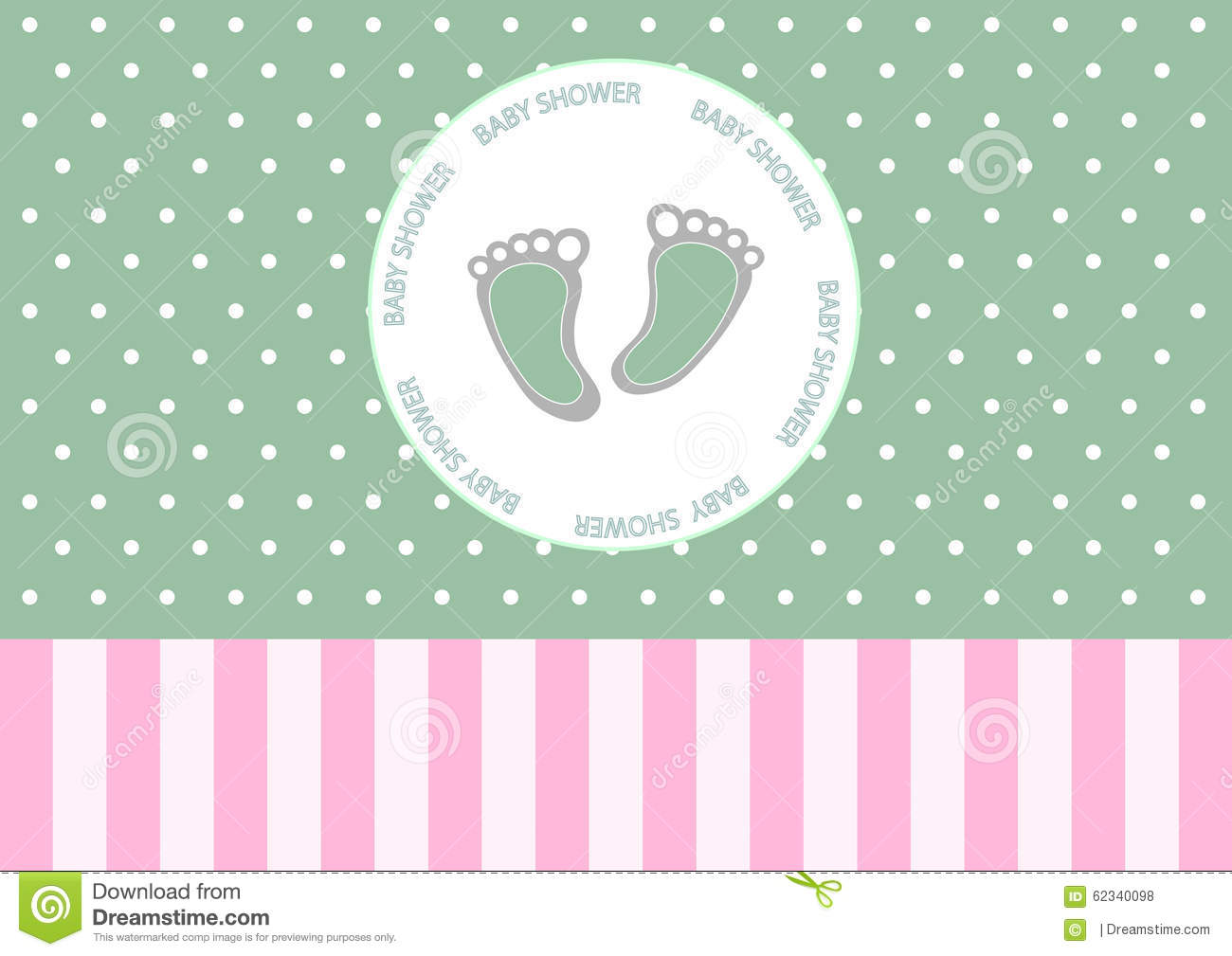 Cute baby foot on greeting carddesign of baby shower cards stock cute baby foot on greeting carddesign of baby shower cards kristyandbryce Choice Image