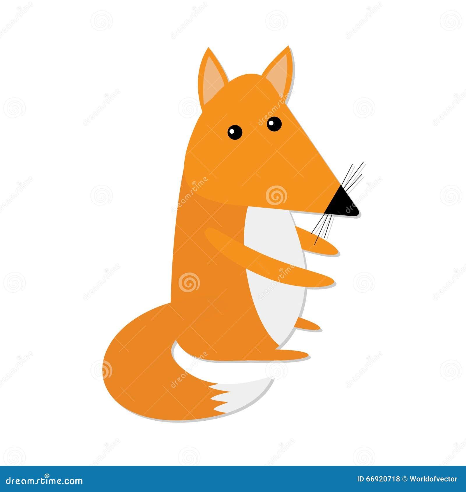 Fox Cute Baby Cartoon Copyspace Royalty Free Stock Photo ...  |Vector Cute Baby Fox