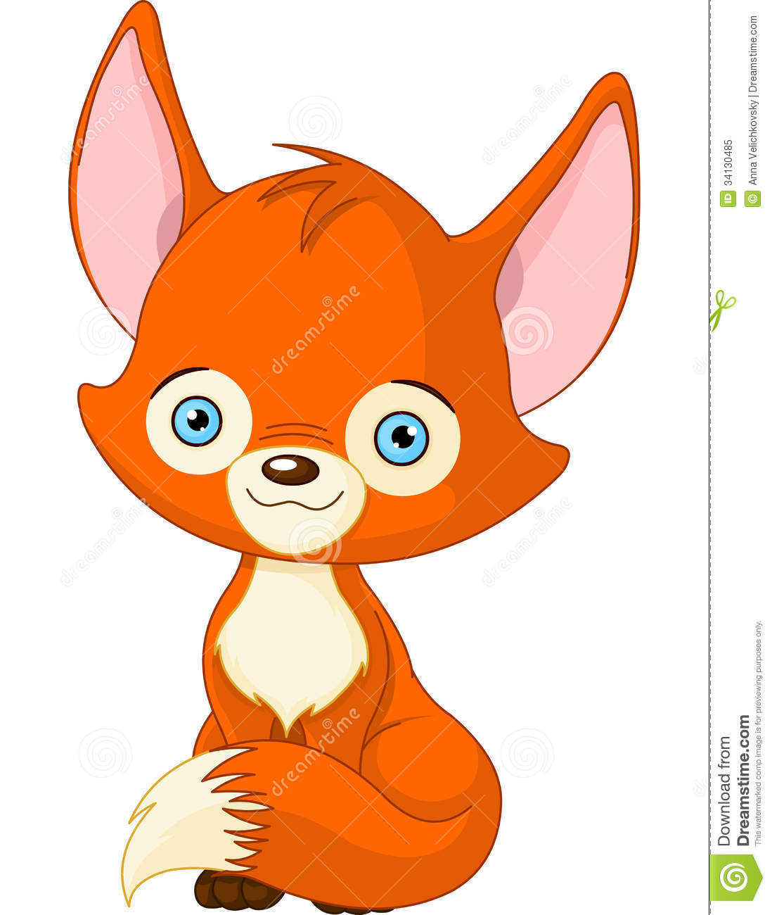 Cute Baby Fox Stock Vector Image Of Drawing Wilderness
