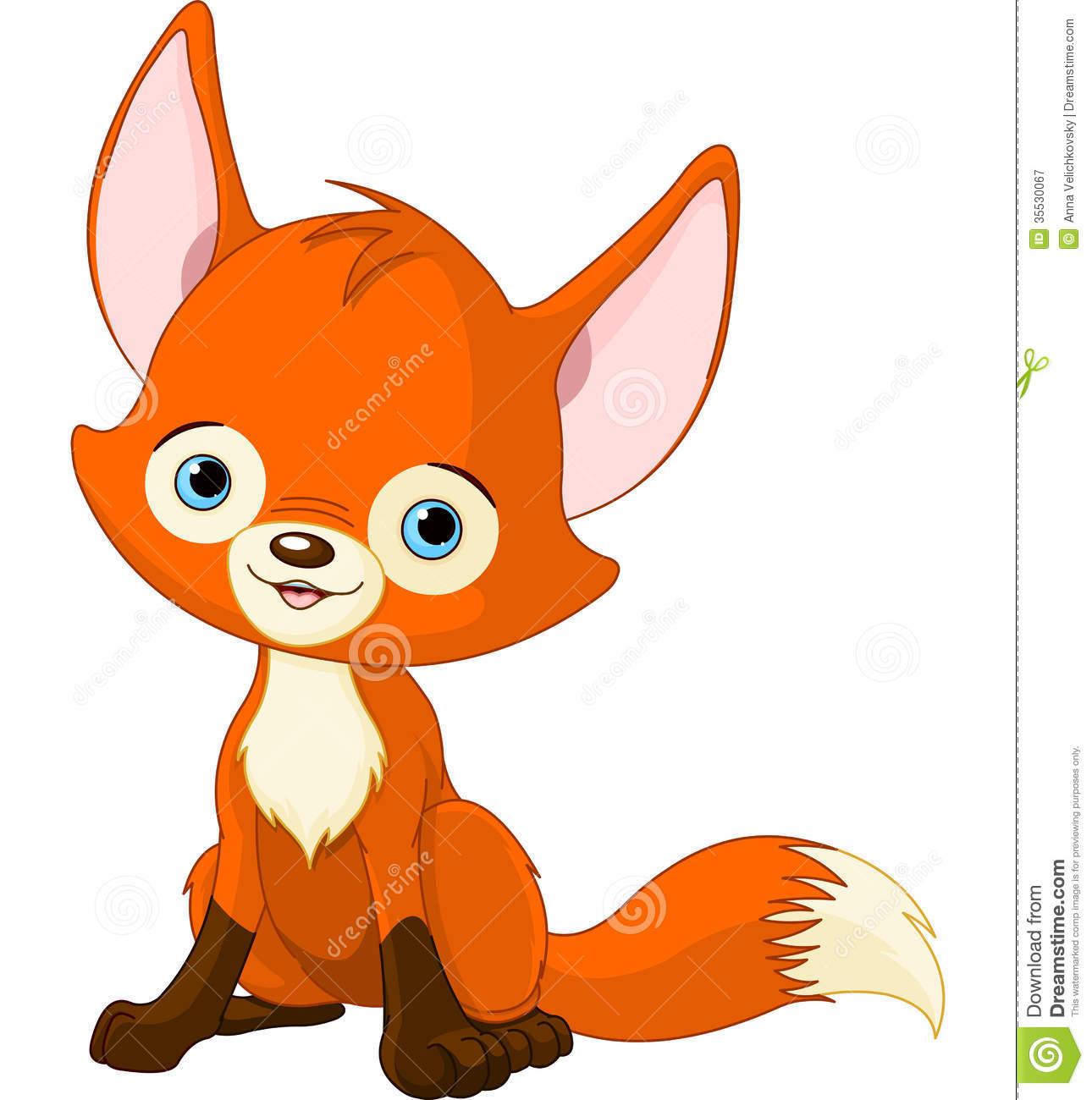 Cute Baby Fox Royalty Free Stock Photography - Image: 35530067